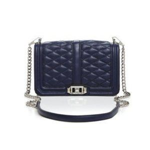 NWT Rebecca Minkoff Quilted Love Crossbody Leather